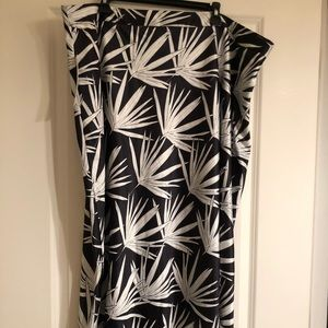 NWT Hutch for Anthro black/white midi skirt, 24W